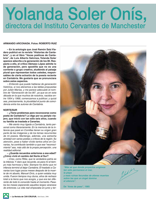 Entrevista en la revista de Caja Cantabria